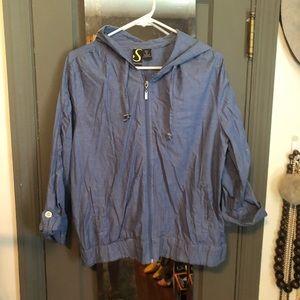 Sportelle Jackets & Coats - Lightweight zippered jacket with hood